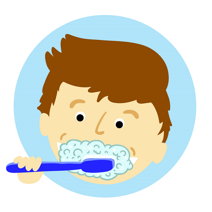 cartoon kid brushing teeth at walnut creek dentist
